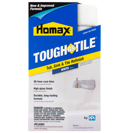 Homax Tough As Tile Tub Sink and Tile Epoxy Spray On - White, 32oz
