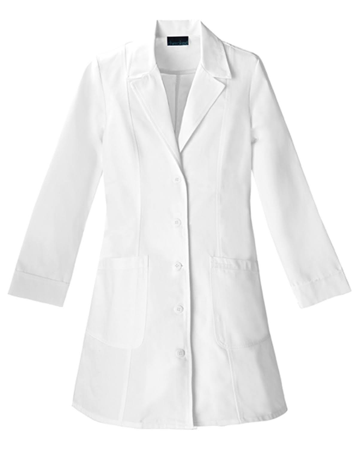 "Cherokee Womens Lab Coat - White, 36"", 3X-Large"