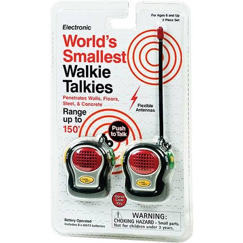 Electronic World's Smallest Walkie Talkies - Pack of 2