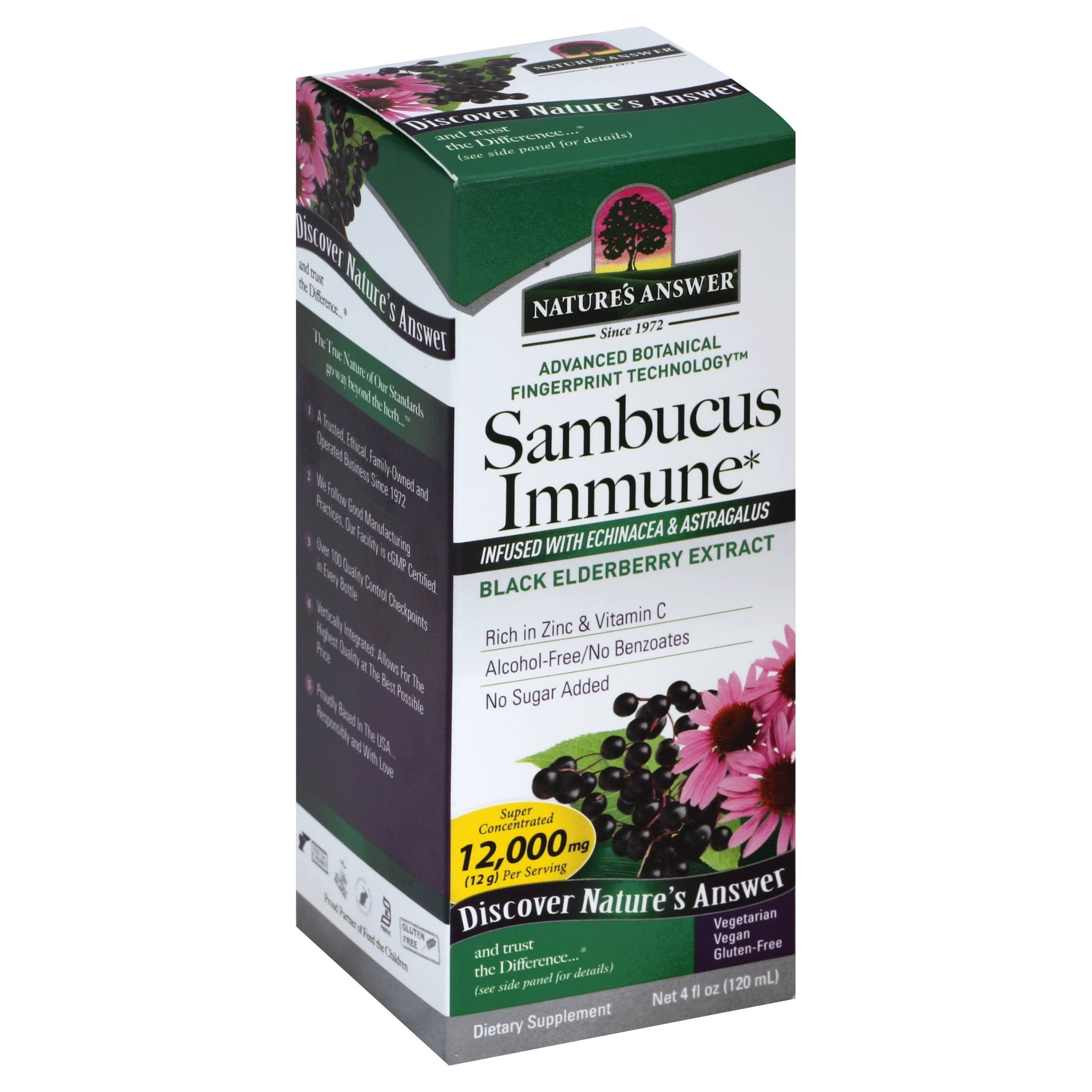 Nature's Answer Sambucus Immune Support - 120 ml