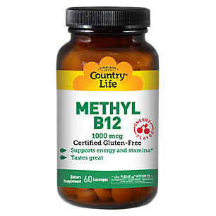 Country Life Methyl B12 Supplement - 60 Lozenges