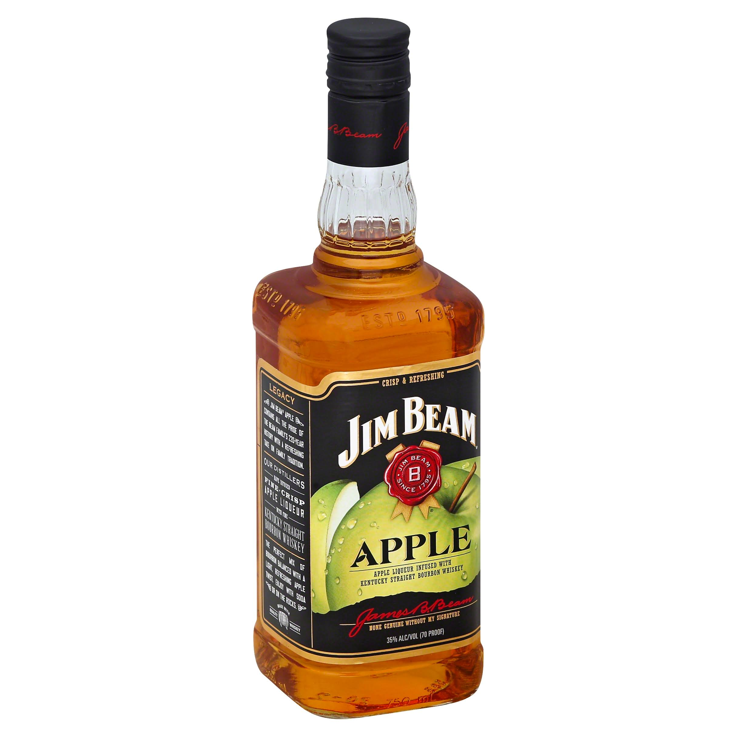 Jim Beam Apple Kentucky Straight Bourbon Whiskey - 750ml
