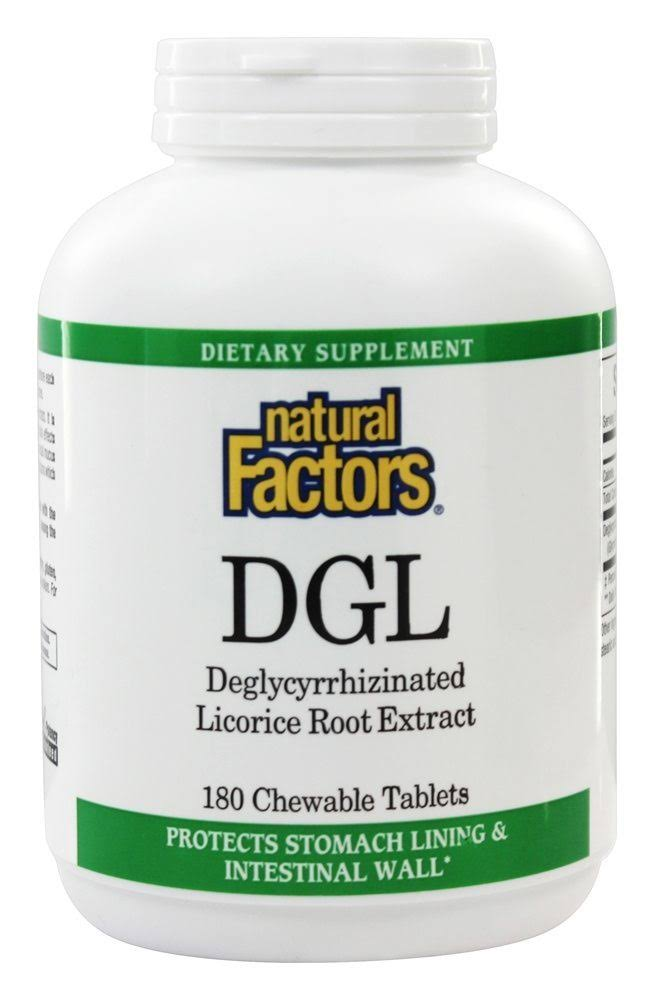 Natural Factors DGL Licorice Root Extract - 180 Chewable Tablets