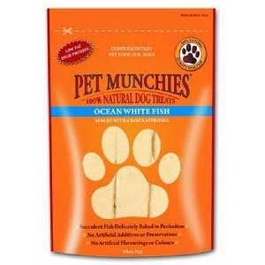 Pet Munchies Natural Meat Jerky Dog Treats - Ocean White Fish, 100g