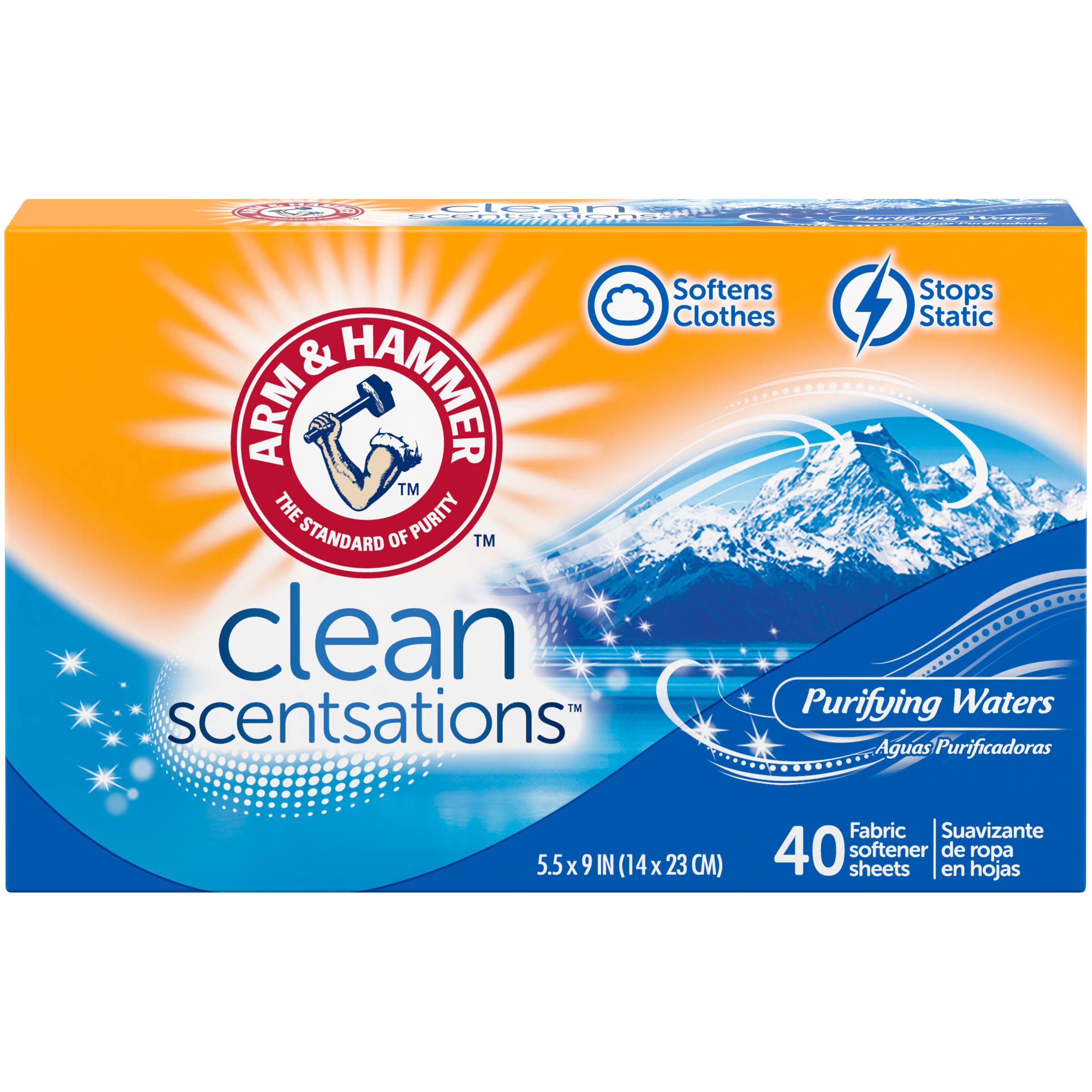 Arm and Hammer Fresh 'N Soft Fabric Softener Sheets - Clean Burst, 40ct