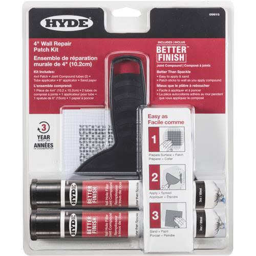 Hyde 09915 Wall Repair Patch Kit
