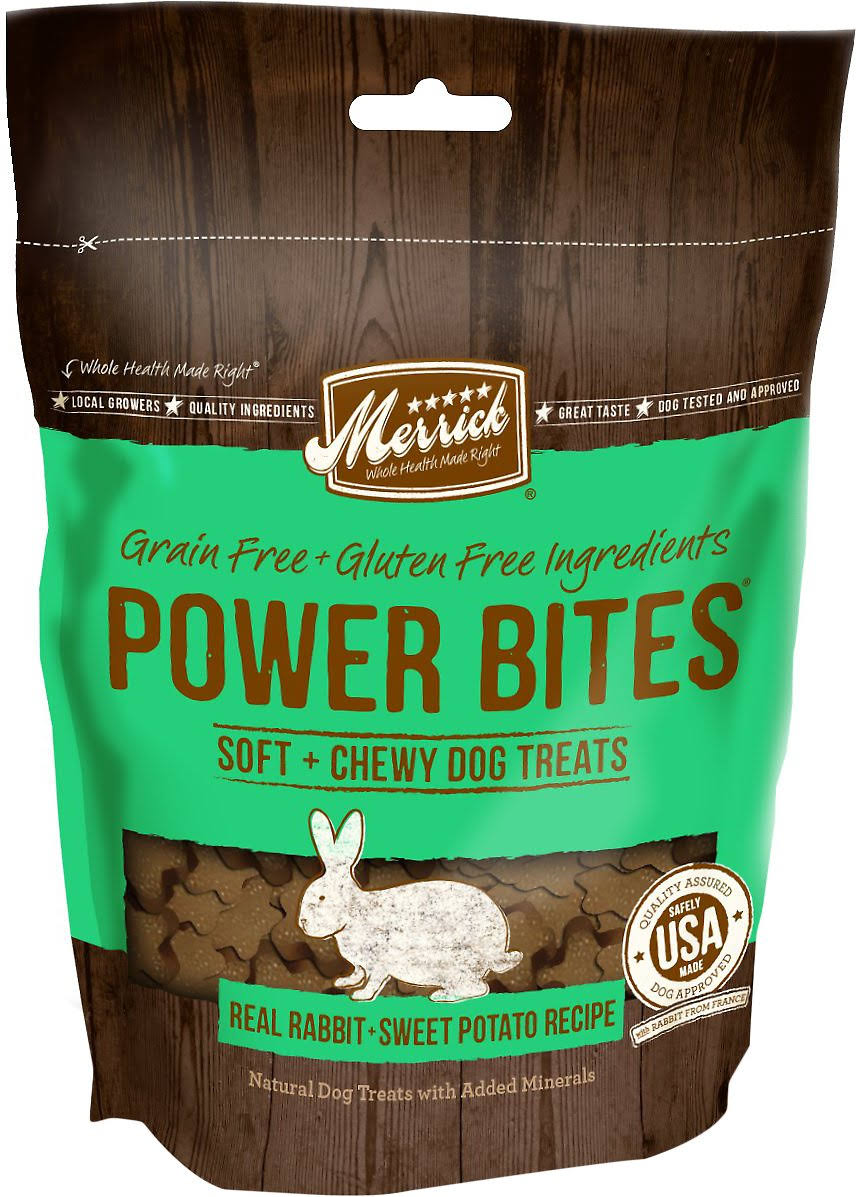 Merrick Power Bites Dog Treats - Real Rabbit and Sweet Potato