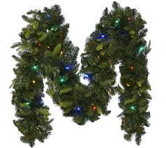 Bethlehem Lights Christmas Trees Qvc by Bethlehem Lights 9 U0027 Mixed Greens Prelit Holiday Garland Page 1