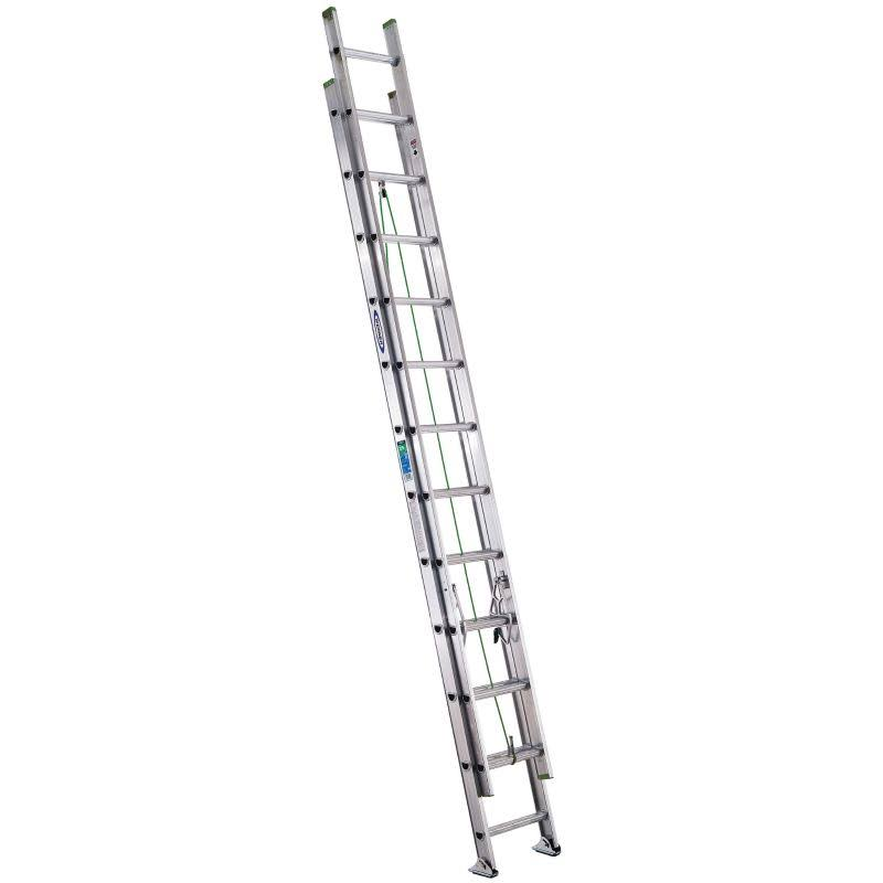 Werner Aluminum Extension Ladder with 225lb Load Capacity - 24ft