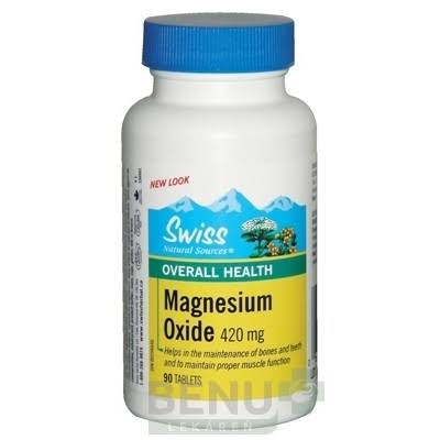 Swiss Natural Sources Magnesium Oxide Supplement - 420mg, 90 Tablets
