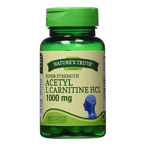 Nature's Truth Super Strength Acetyl L Carnitine Supplement - 1000mg, 30ct