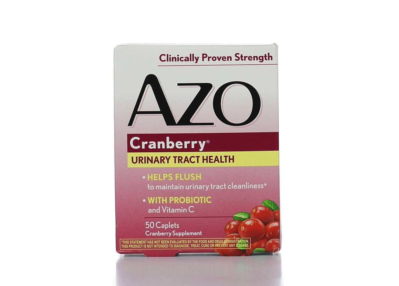Azo Cranberry with Urinary Health Promoting Probiotic and Vitamin C Tablets - 50ct