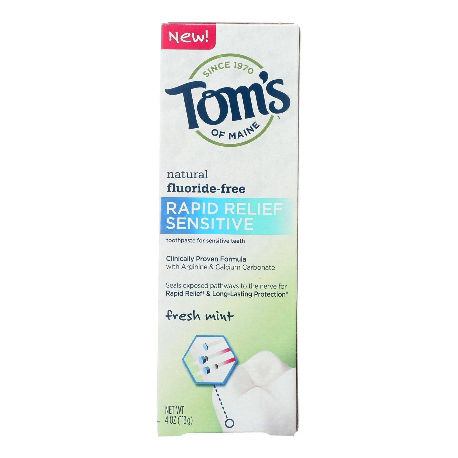 Tom's of Maine Rapid Relief Sensitive Toothpaste - Fresh Mint