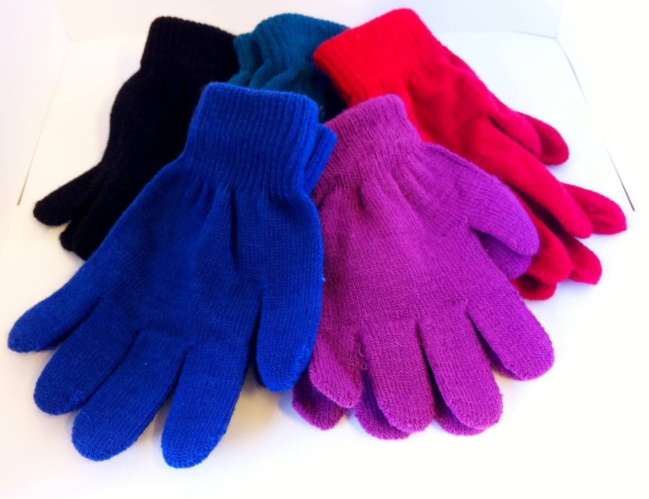 RJM Children's Black Thermal Magic Gloves for The Winter 1 Pair