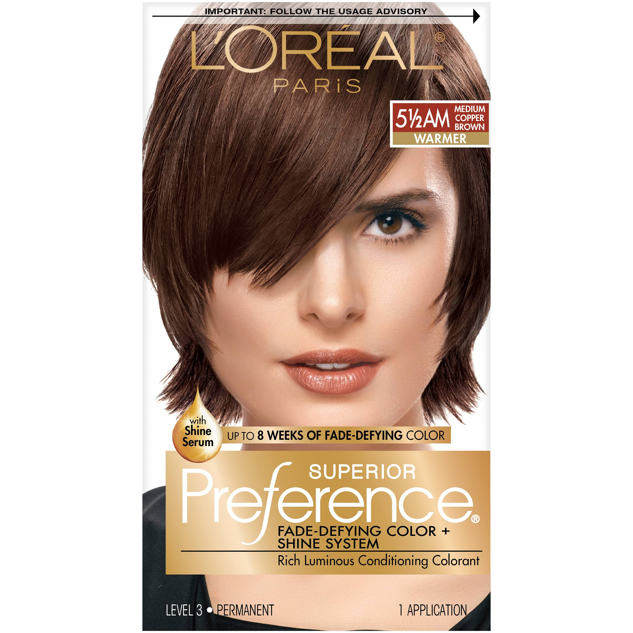 L'Oréal Paris Superior Preference Warmer - 5 1/2 AM Medium Copper Brown