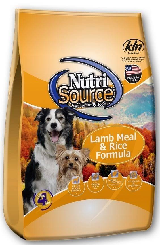 NutriSource Lamb Meal & Rice Formula Dog Food 15 lbs