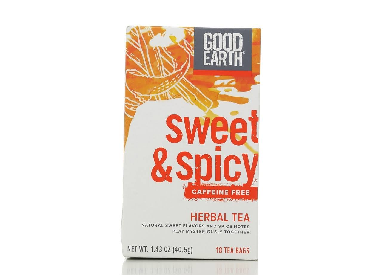 Good Earth Herbal Tea Bags - Sweet and Spicy, 18ct, 1.43oz