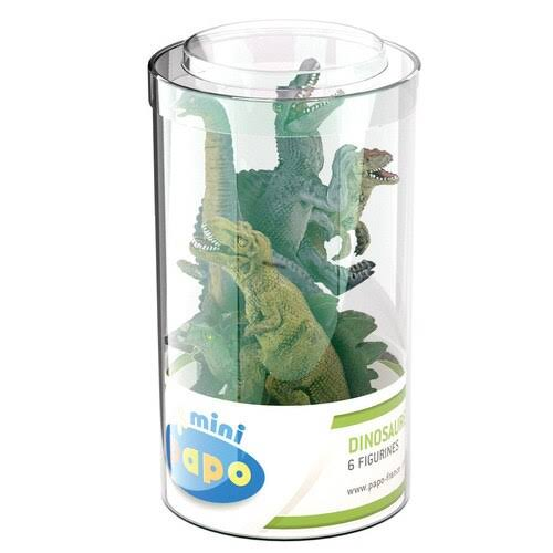 Papo Mini Tub's Dinosaurs Toy - 6 Figurines