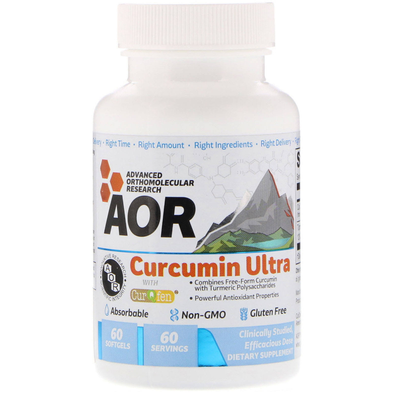 Curcumin Ultra 60 Softgels Advanced Orthomolecular