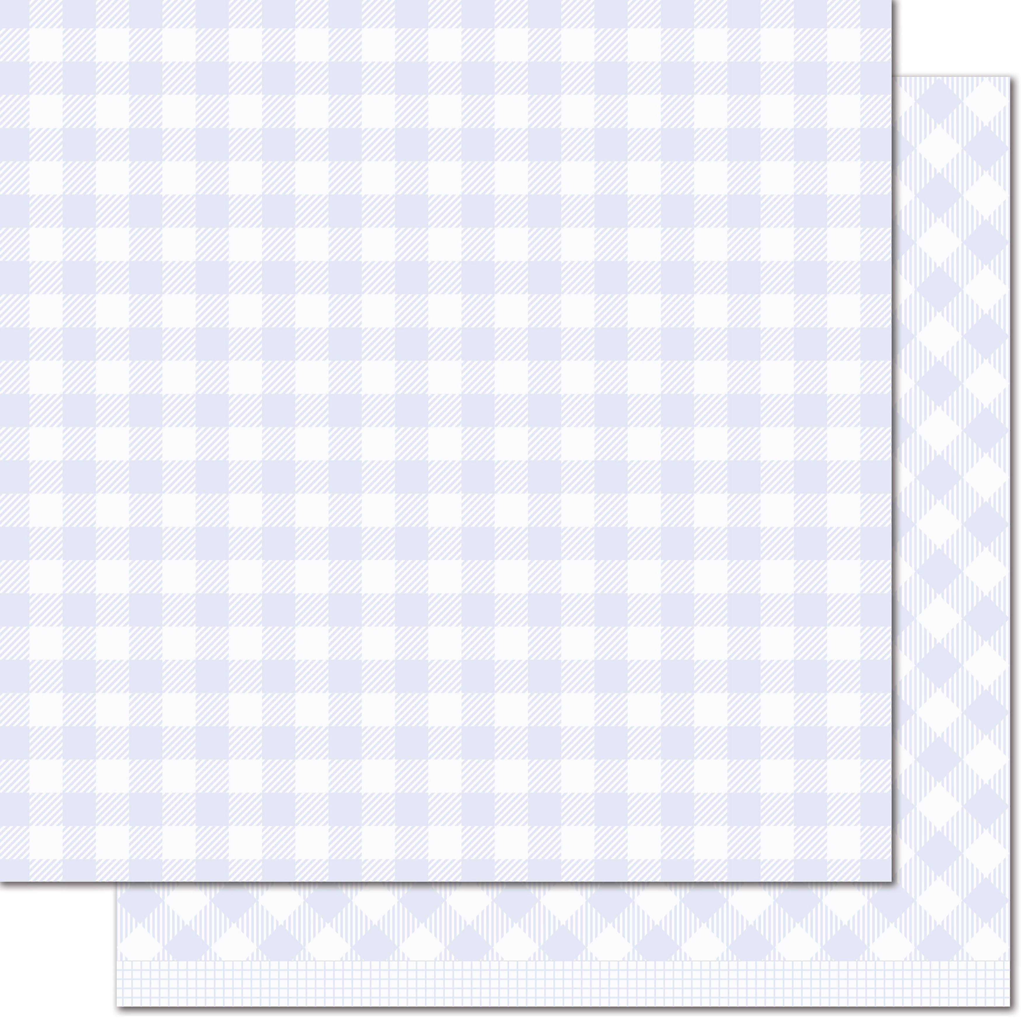 "Lawn Fawn Gotta Have Gingham Collection Double Sided Paper - Mabel, 12"" x 12"""