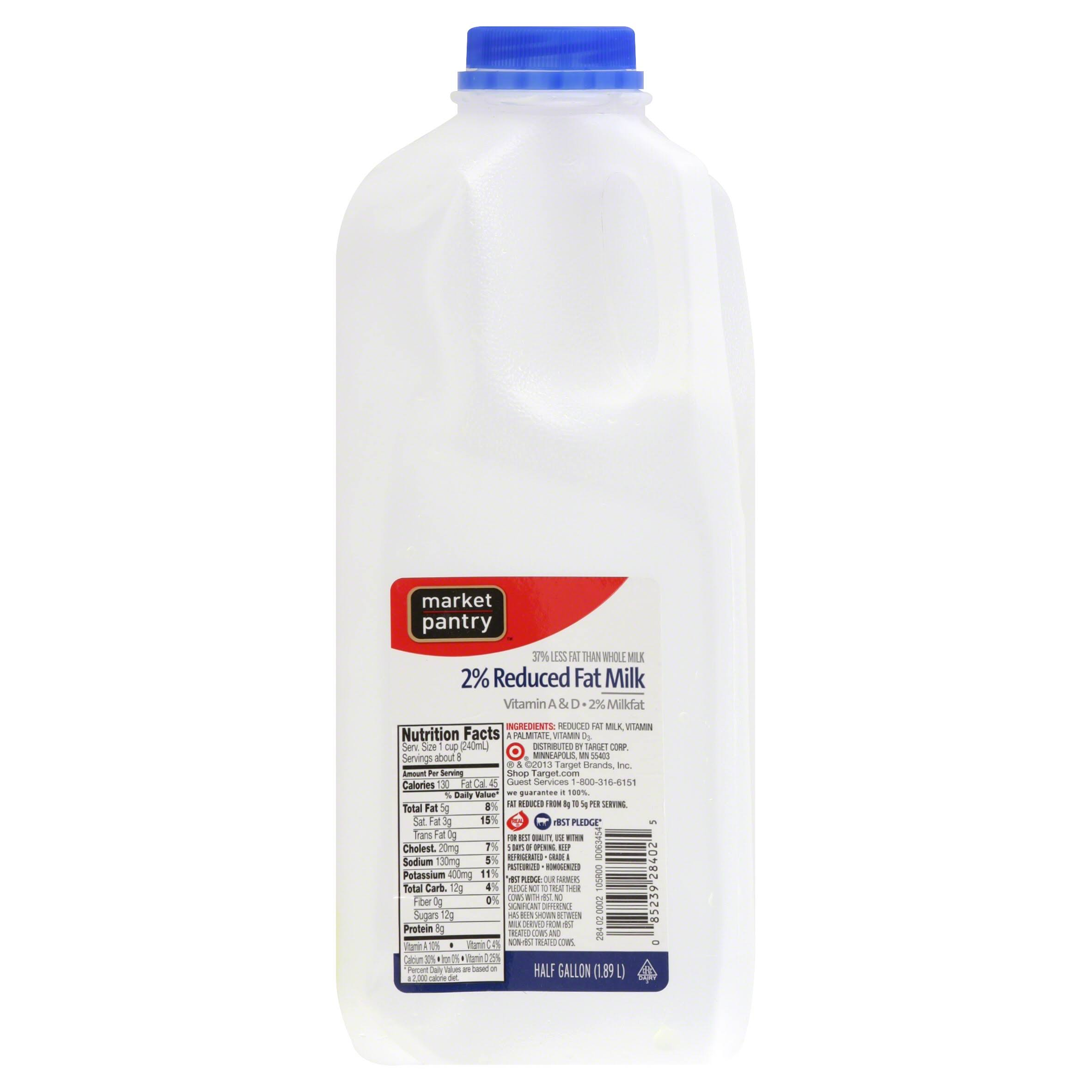 Market Pantry 2% Reduced Fat Milk - 64 fl oz jug