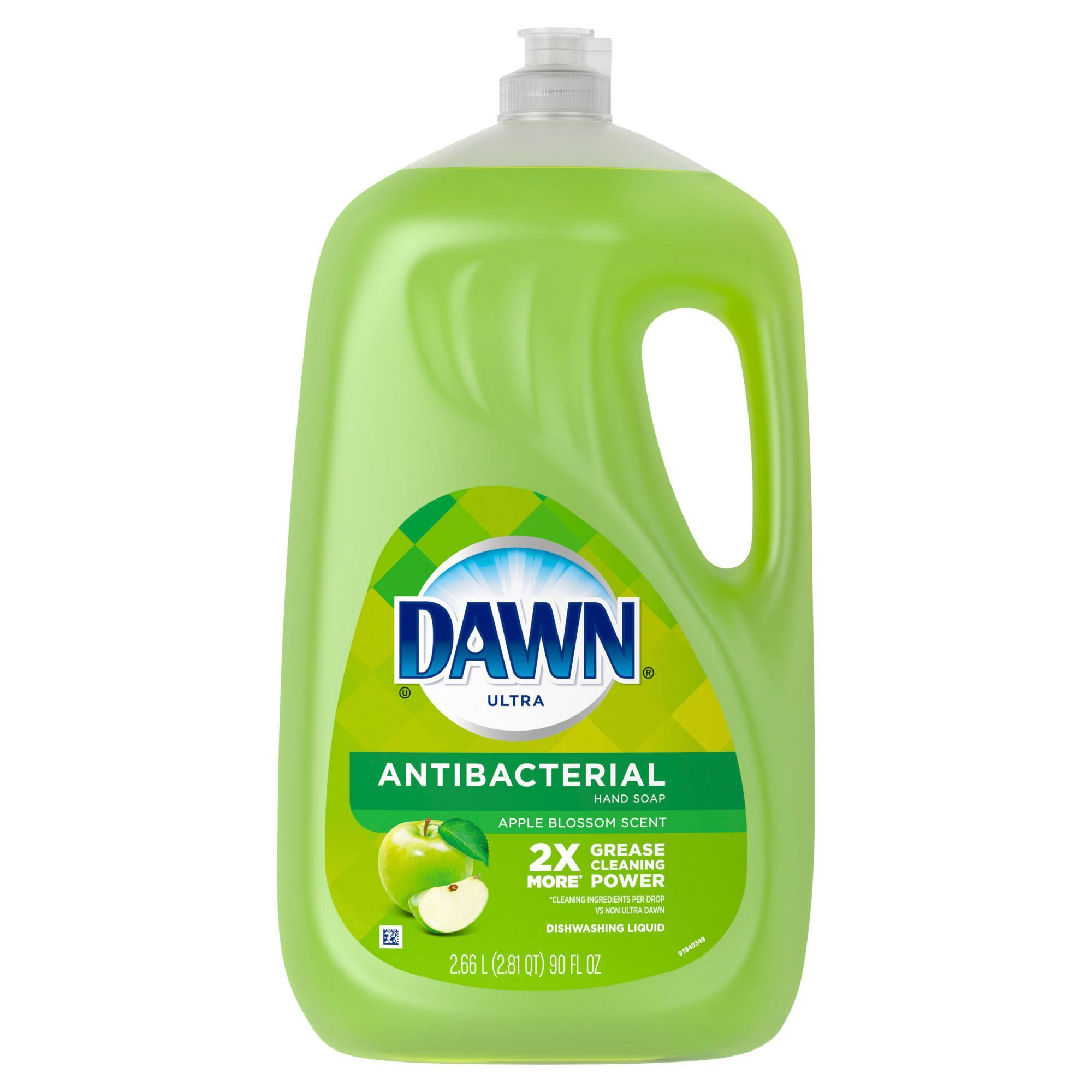 Dawn Ultra Antibacterial Dishwashing Liquid Soap - Apple Blossom, 90oz