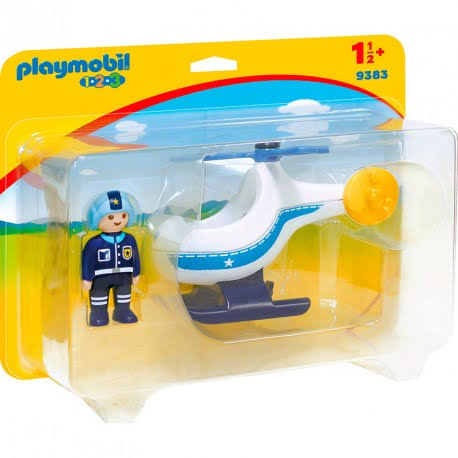 Playmobil Police Copter Figure - 4cm x 10cm x 10 cm