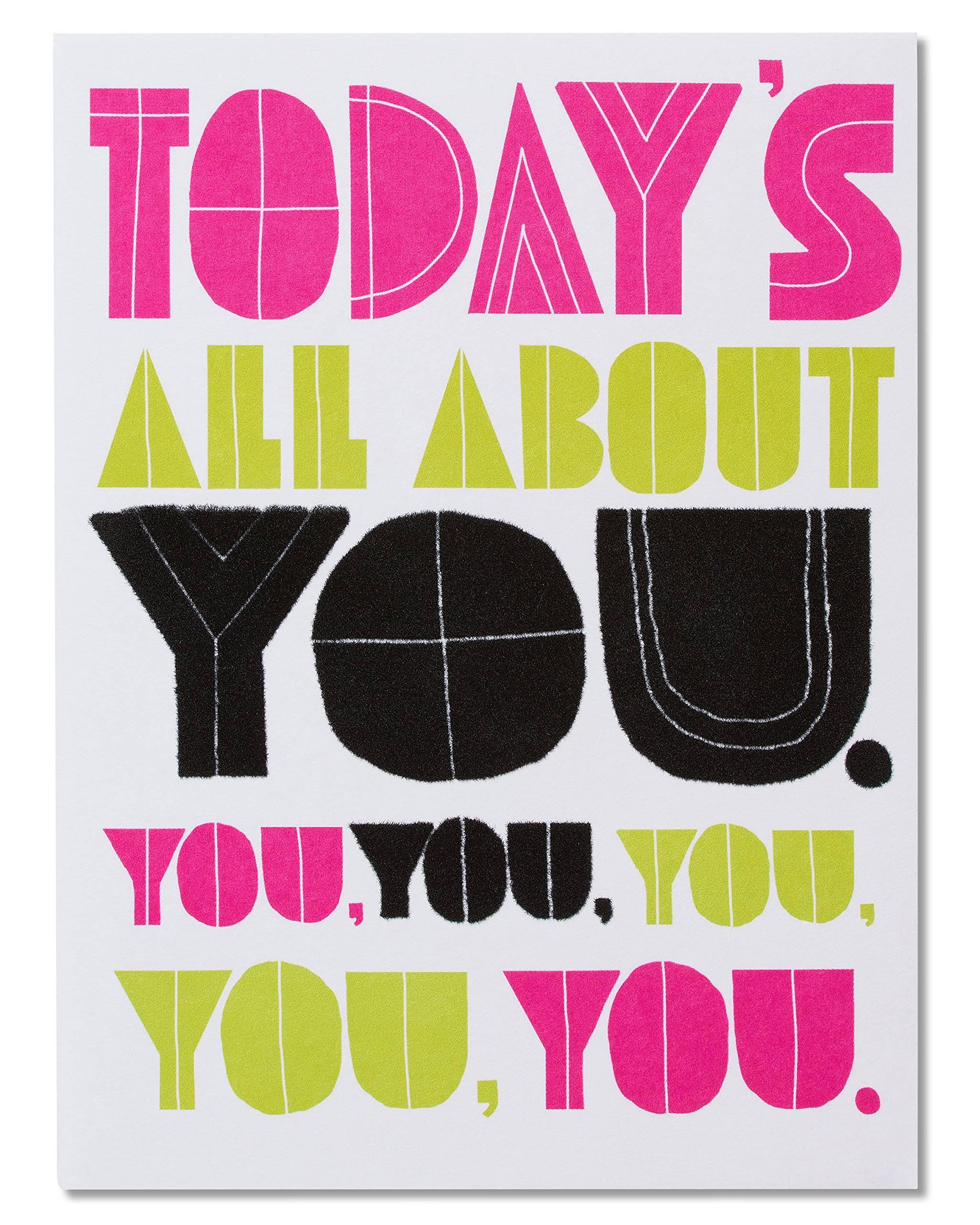 American Greetings Funny Birthday Card (All About You)