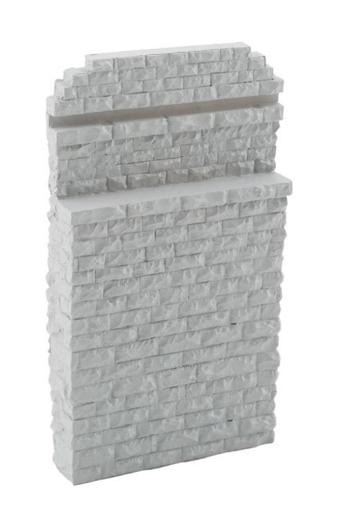 Walthers HO Scale Single Track Railroad Bridge Stone Abutment - Resin Casting