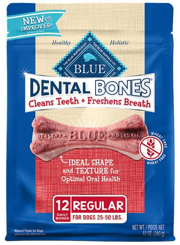 Blue Buffalo Blue Bones Natural Dental Dog Chew - 12oz