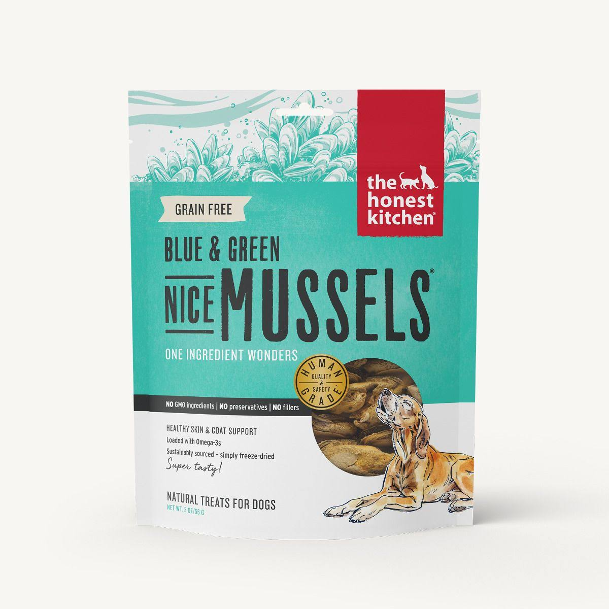 The Honest Kitchen Nice Mussels Green Mussels Dog Treats - 2 oz