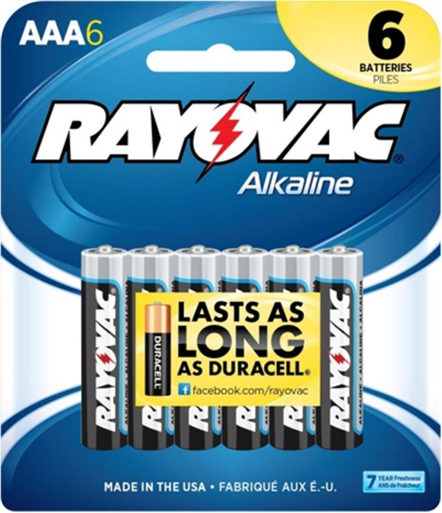 Rayovac AAA Alkaline Batteries - 6 Pack