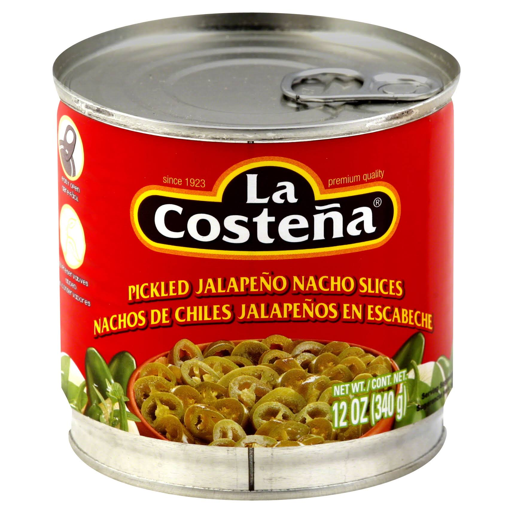 La Costeña Pickled Jalapeño Nacho Slices - 12oz