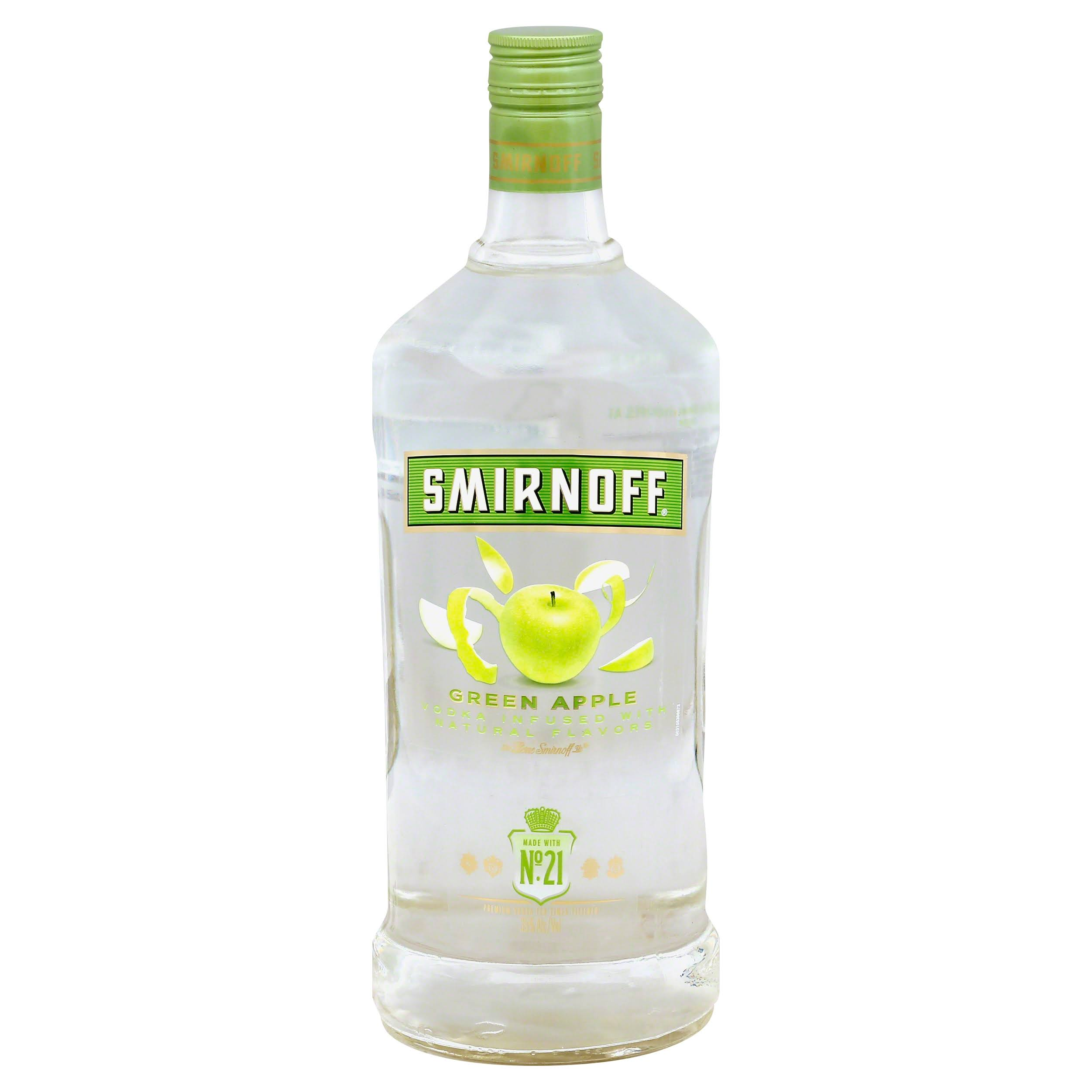 Smirnoff Vodka, Green Apple - 1.75 lt