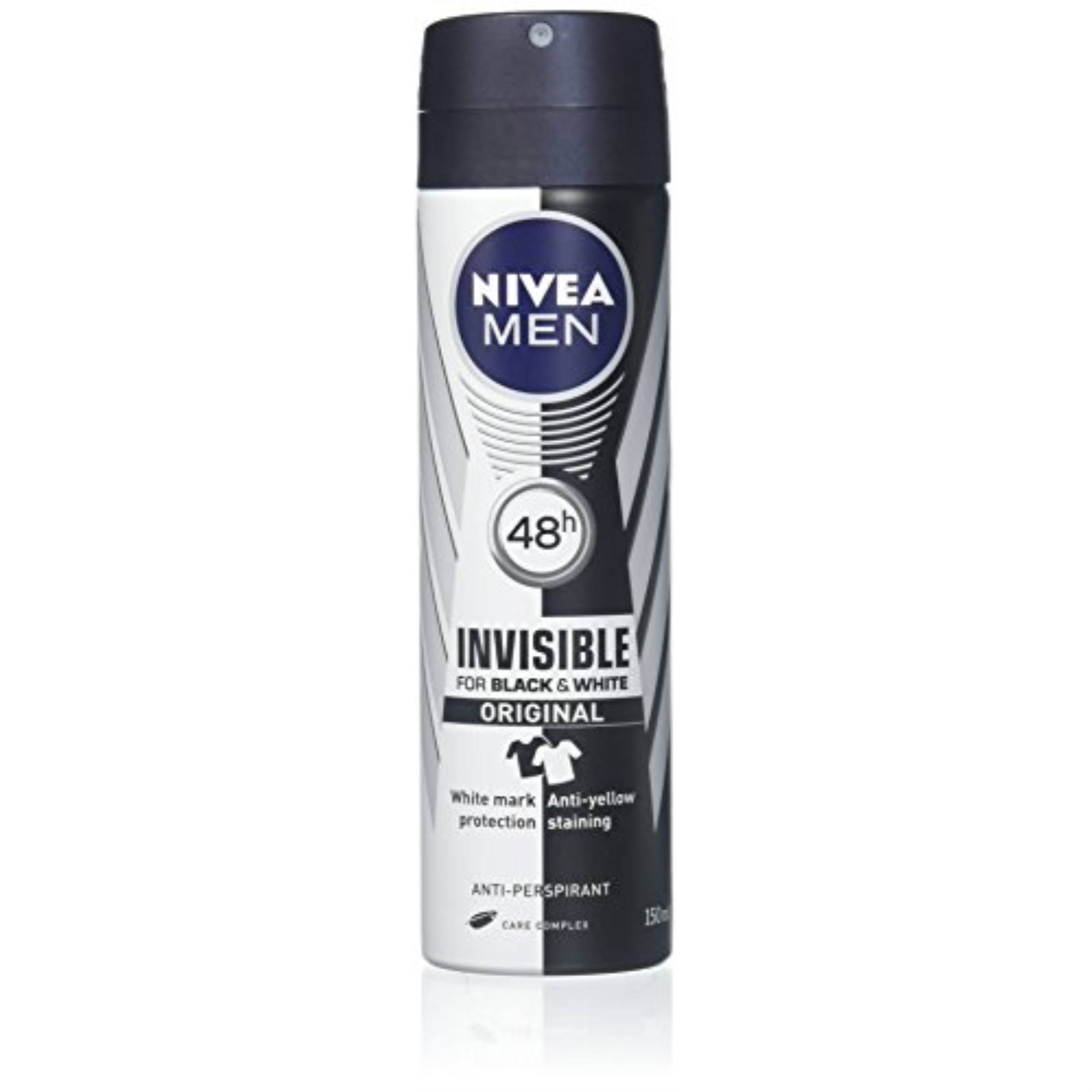 NIVEA Men's Black and White Original Anti-Perspirant Deodorant Spray - 150ml