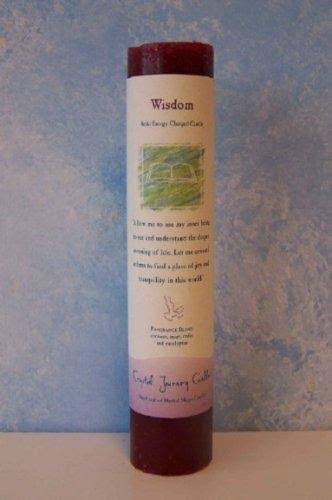 Crystal Journey Reiki Charged Herbal Pillar Candle - Wisdom