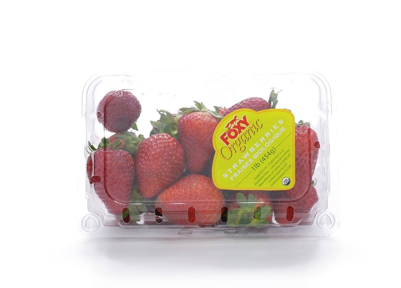 Organic Strawberries - 16 oz