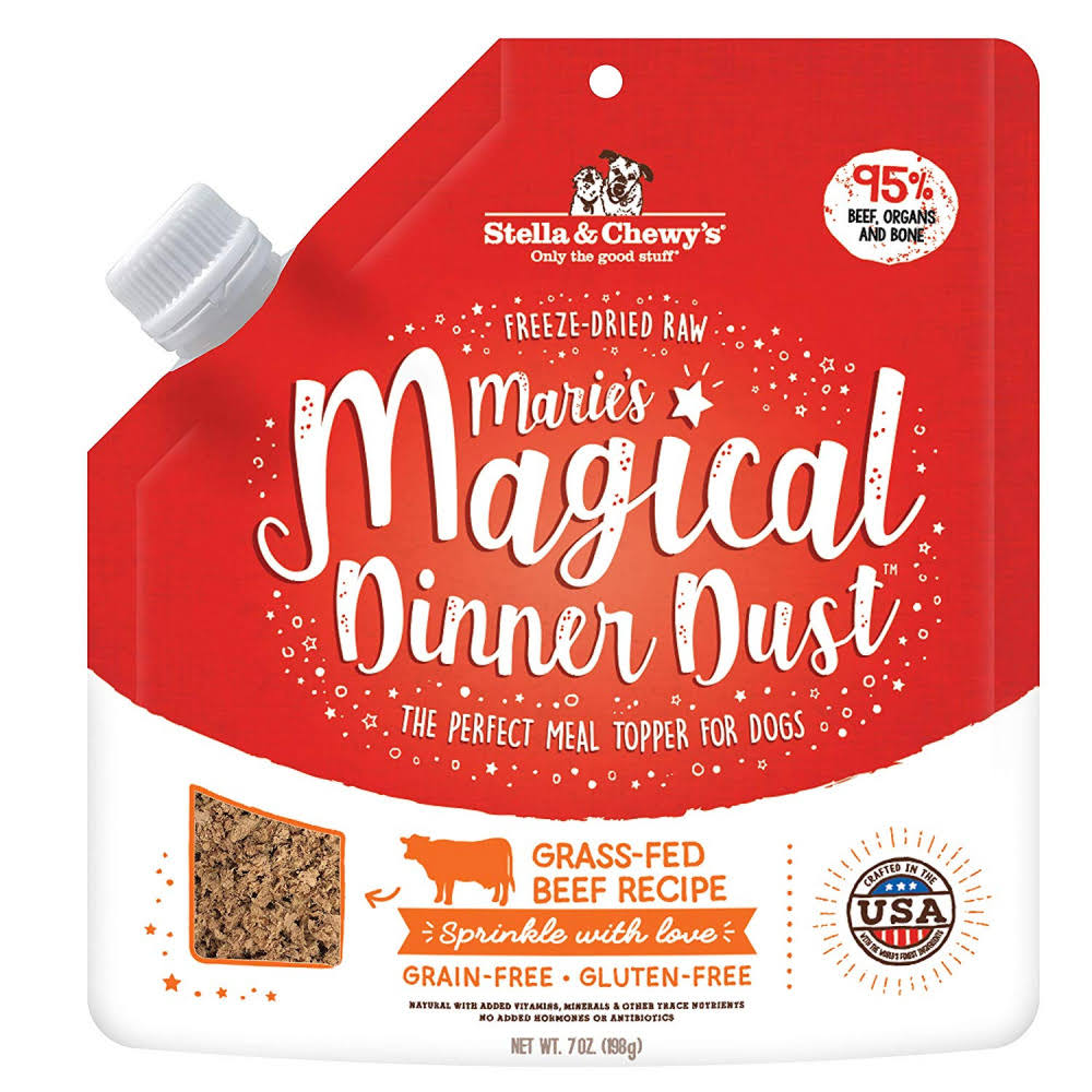 Stella & Chewy's Marie's Magical Dinner Dust Freeze-Dried Grass-Fed Beef Recipe Topper Dog Food 7oz