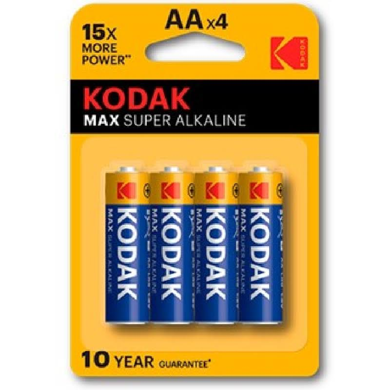 Kodak Max Alkaline Batteries - 4 Pack