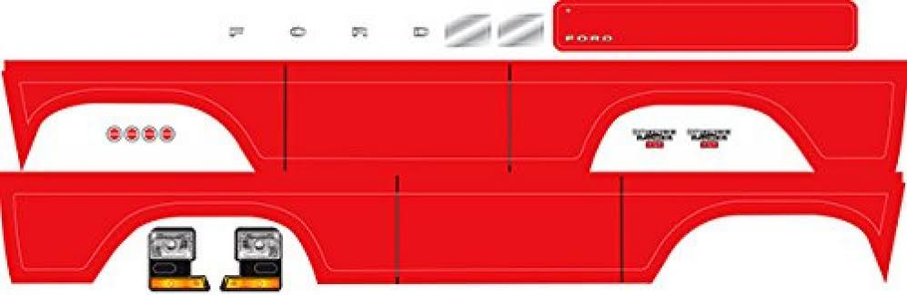 Traxxas 8078R Ford Bronco Decal Sheet - Red