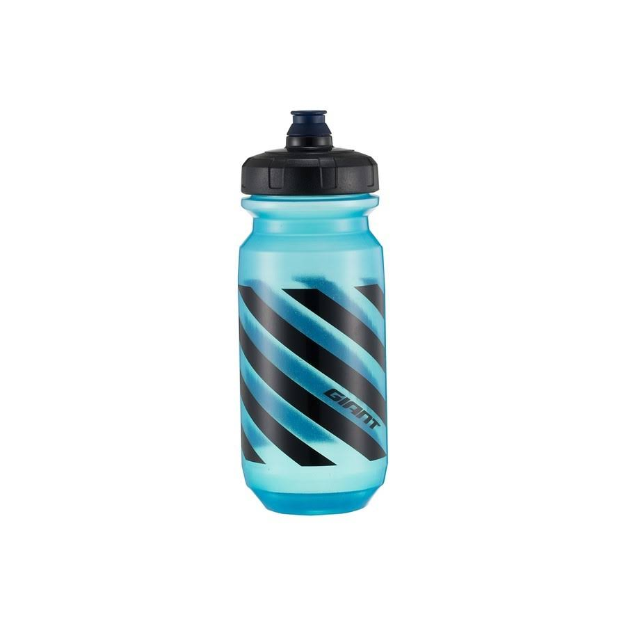 Giant Doublespring Transparent Water Bottle - Blue/Black