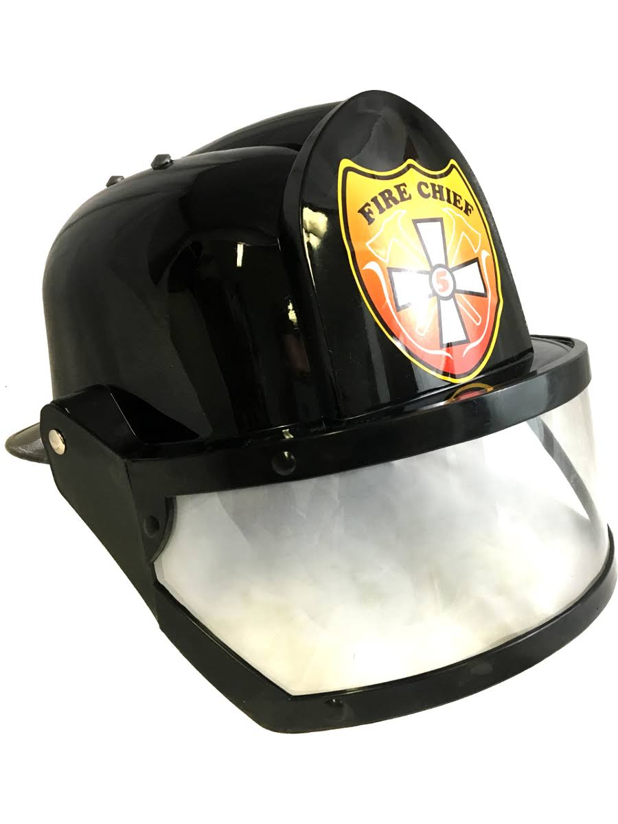 Forum Novelties Men's Novelty Deluxe Fire Hat - Black