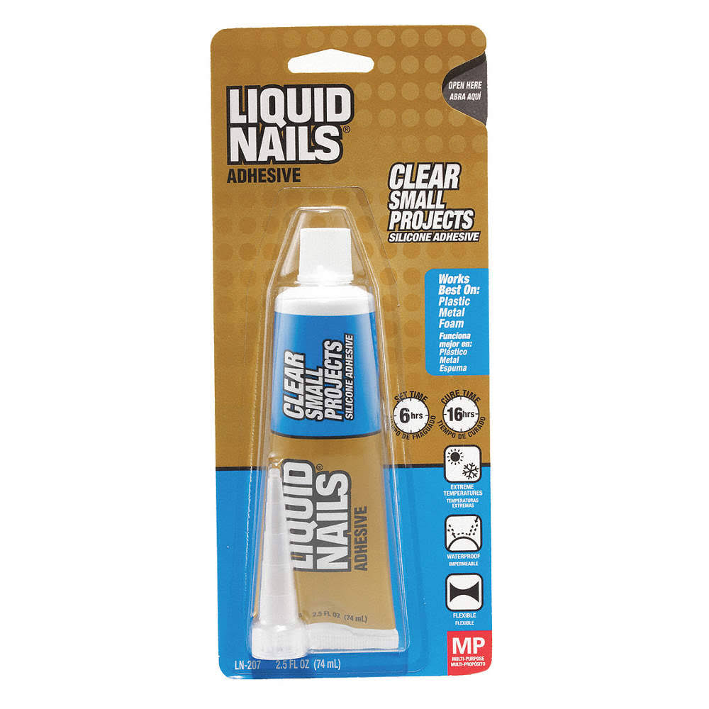 Liquid Nails Small Projects Silicone Adhesive - Clear, 2.5oz