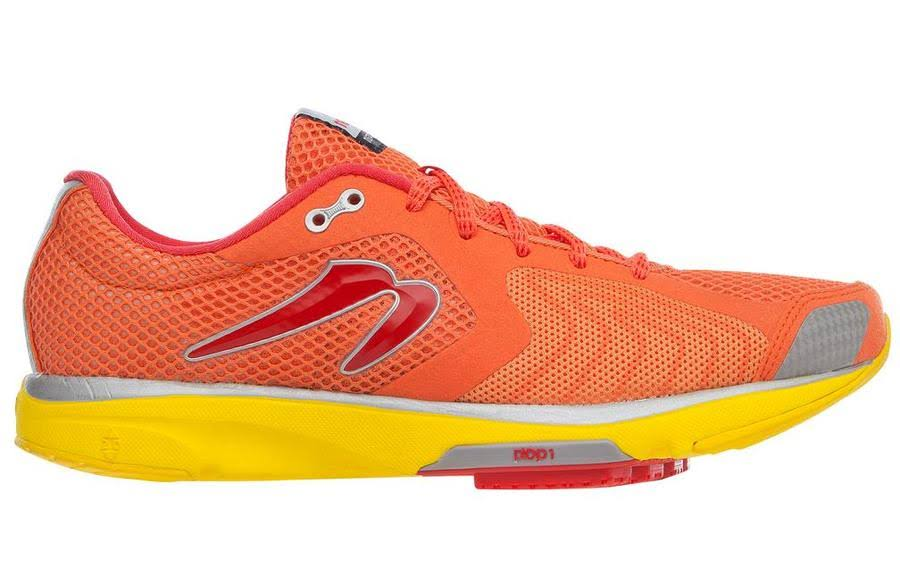 Newton Mens Distance III Running Shoes - Orange/Red, Size 8.5