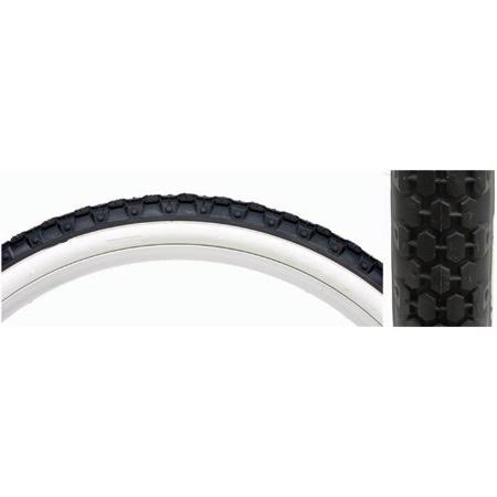 "Sunlite Cruiser Bicycle Tire - Black & White, 26"" x 2.125"""
