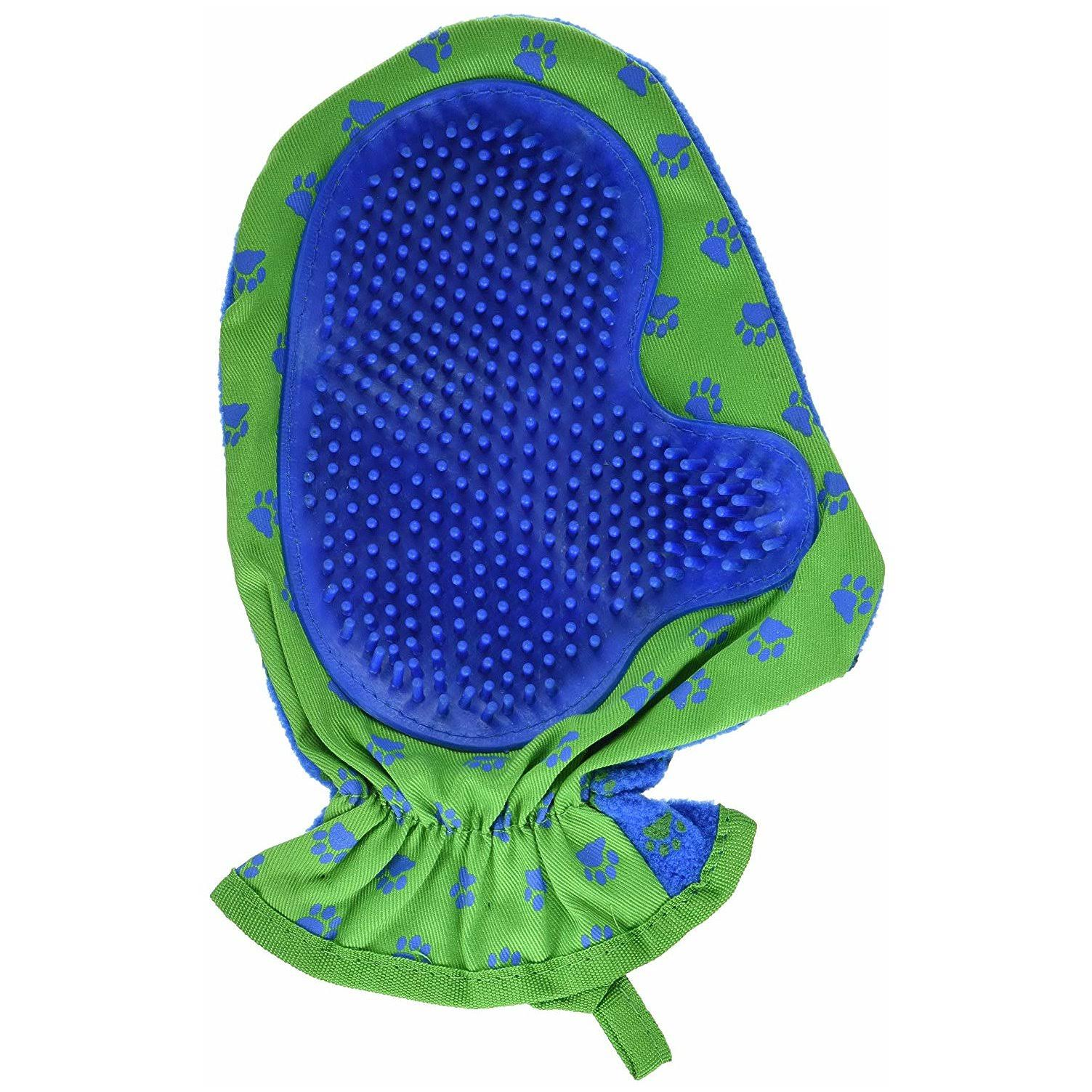 Items 4U 00525 Hair Removal Mitt - Blue/Green