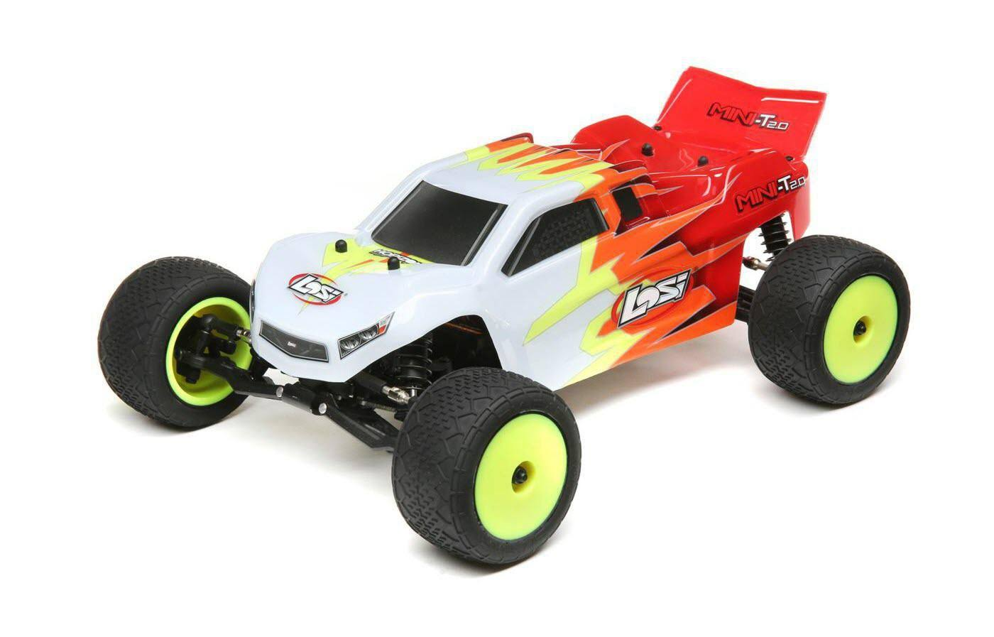 Losi 1/18 Mini-T 2.0 2WD Stadium Truck RTR, Red/White, LOS01015T1