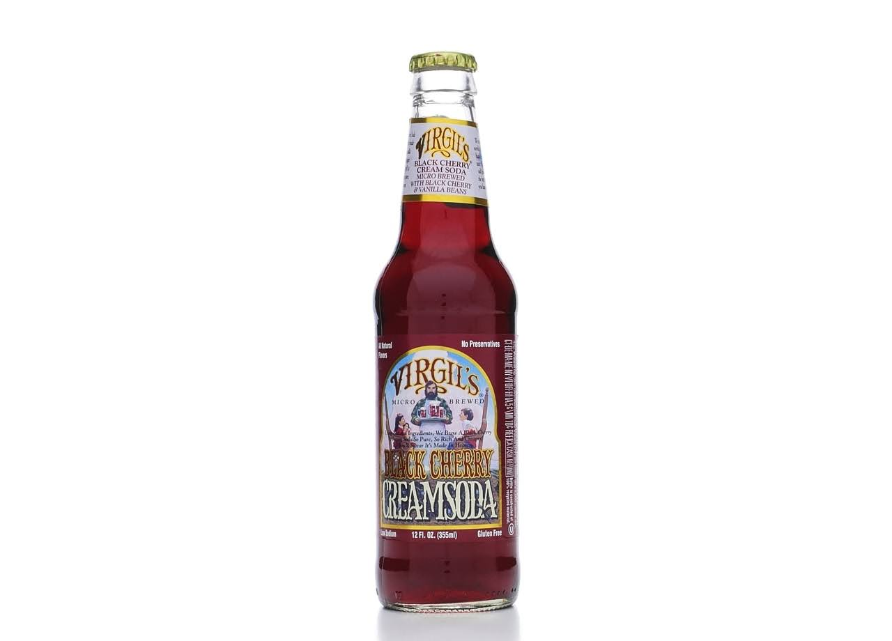 Virgils Micro Brewed Cream Soda - Black Cherry, 355ml