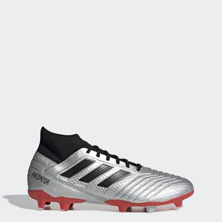 Adidas Predator 19.3 FG Firm Ground Soccer Cleats Silver-Black - 6.5