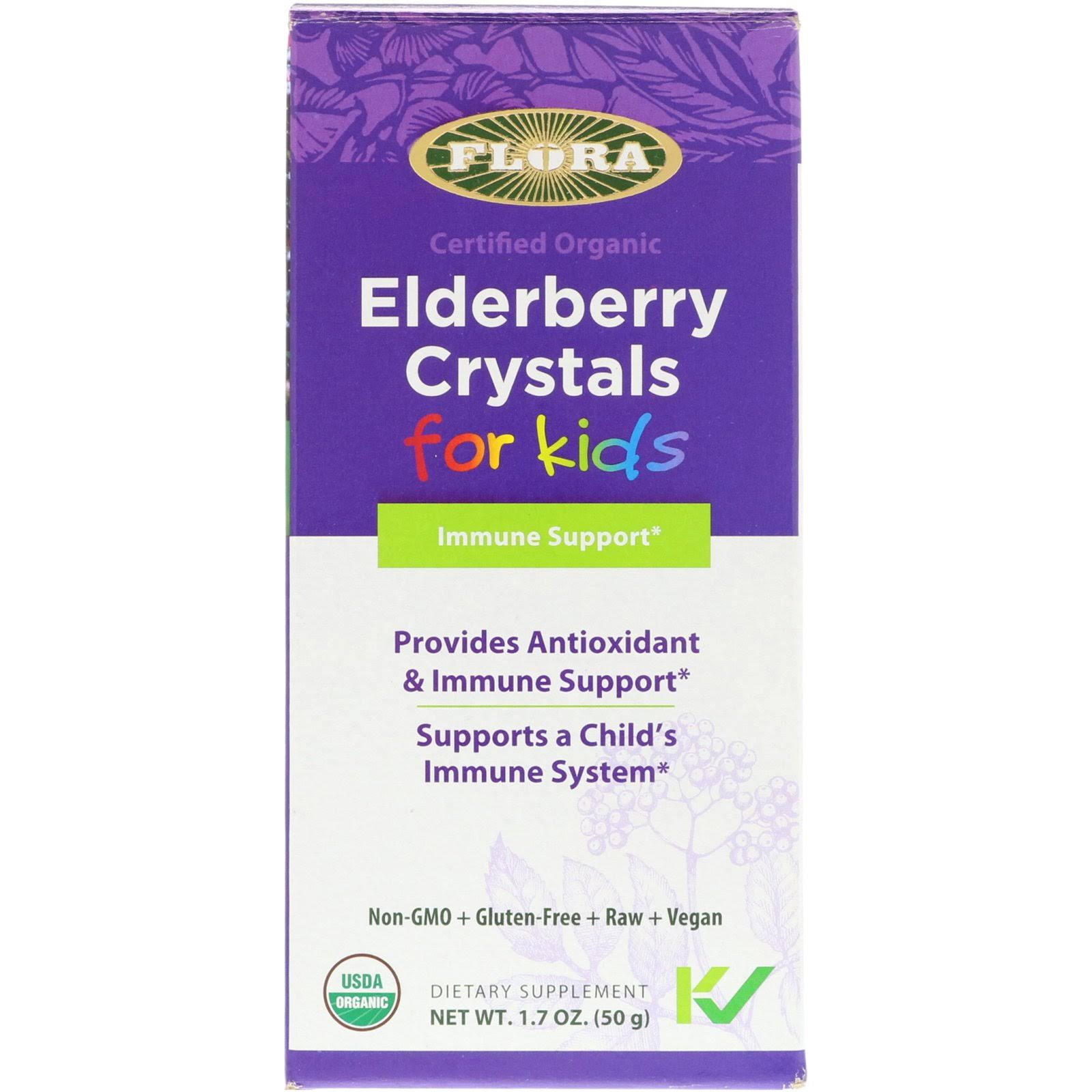Flora Elderberry Crystals For Kids - 50g